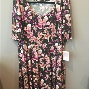 3XL lularoe Nicole dress floral brand new with tag